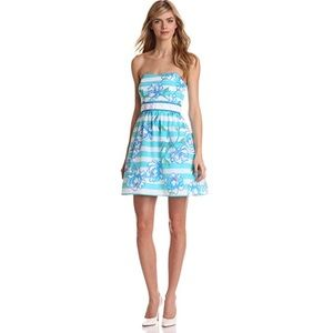 Lilly Pulitzer Shorley Blue Langley Dress Size 4